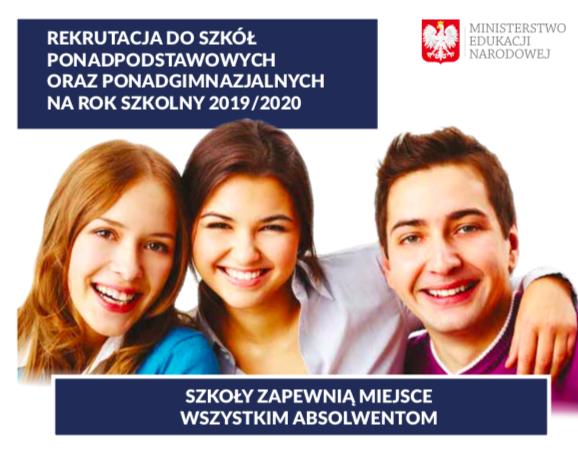 Rekrutacja do szkół ponadpodstawowych 2019/2020